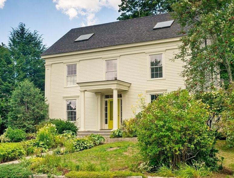 Handsome Greek Revival Home with ocean views for sale - Belfast, Maine