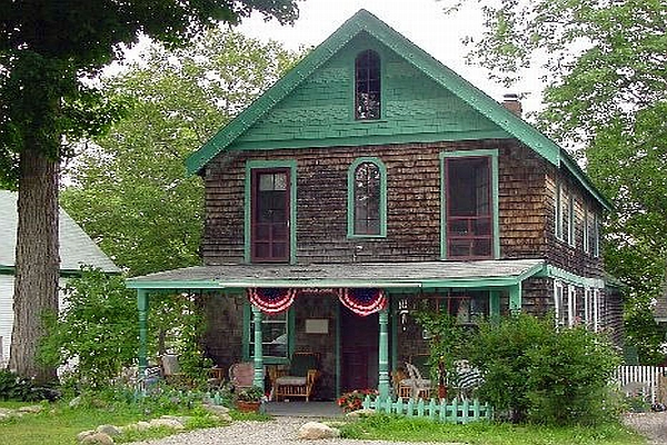 Cottage in Seaside Victorian Community of Bayside in Mid-Coast Maine on Penobscot Bay