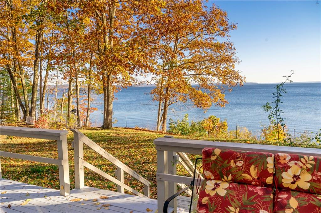 Oceanfront home on Penobscot Bay - Waterfront Deck - Northport Maine - for sale