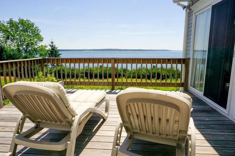 beautiful waterfront contemporary home for sale ~ Stockton Springs, Maine