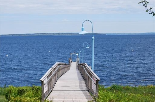 Oceanfront Pier on Penobscot Bay in Maine