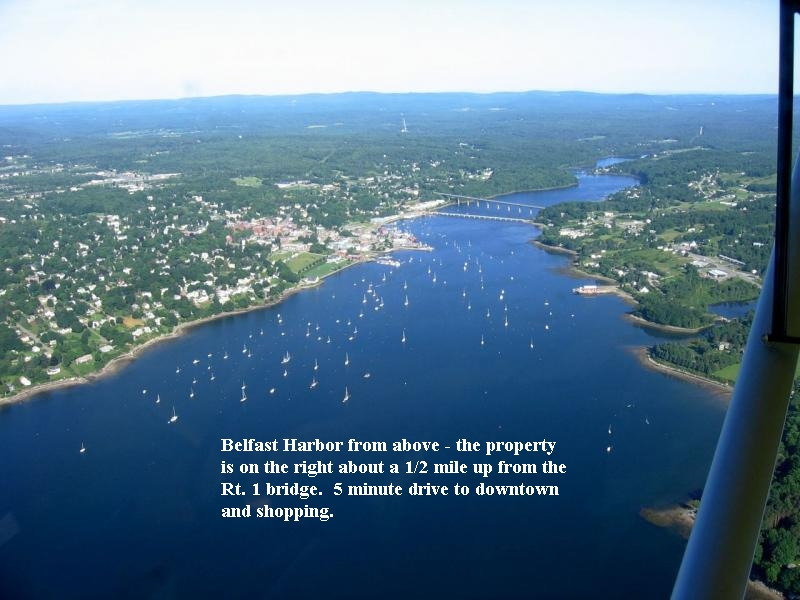 Belfast Harbor on Penobscot Bay in Maine