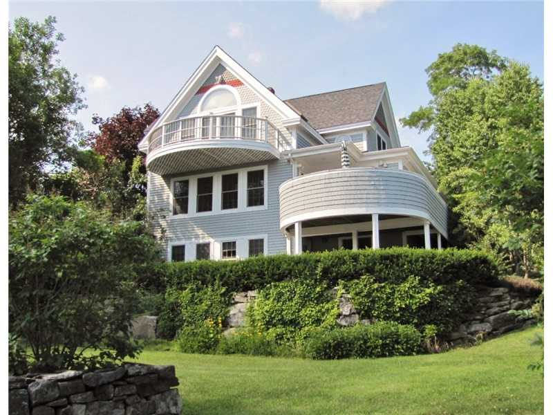 Waterfront home for sale on the coast of Maine