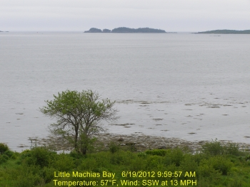Bay Ridge Webcam - Machias, Maine - Webcam on the coast of Maine