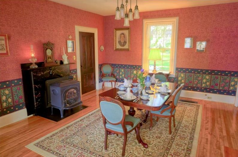 Gracious Dining Room - N.G.Hichborn House Stockton Springs, Maine