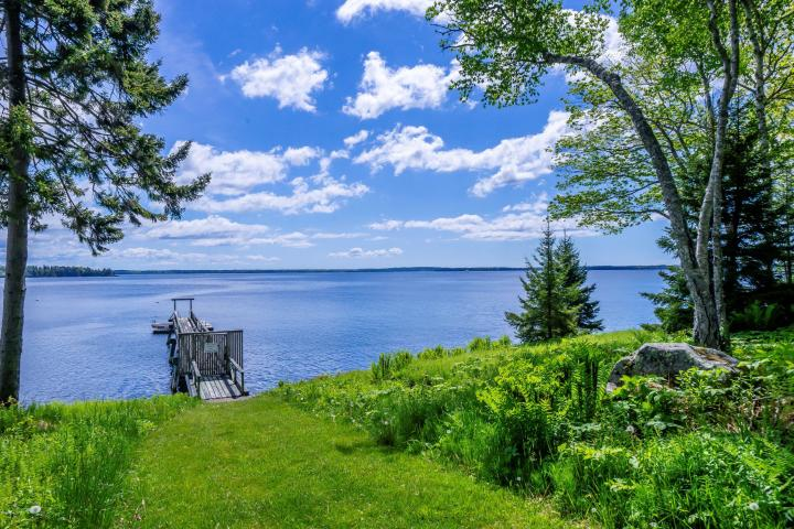 Penobscot Bay Condo amenities include deepwater dock, heated swimming pool, tennis courts, clubhouse and possible mooring for your boat
