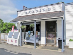 Bayside Counytry Store for sale ~ Northport, Maine includes ice-cream take-out window and deck seating