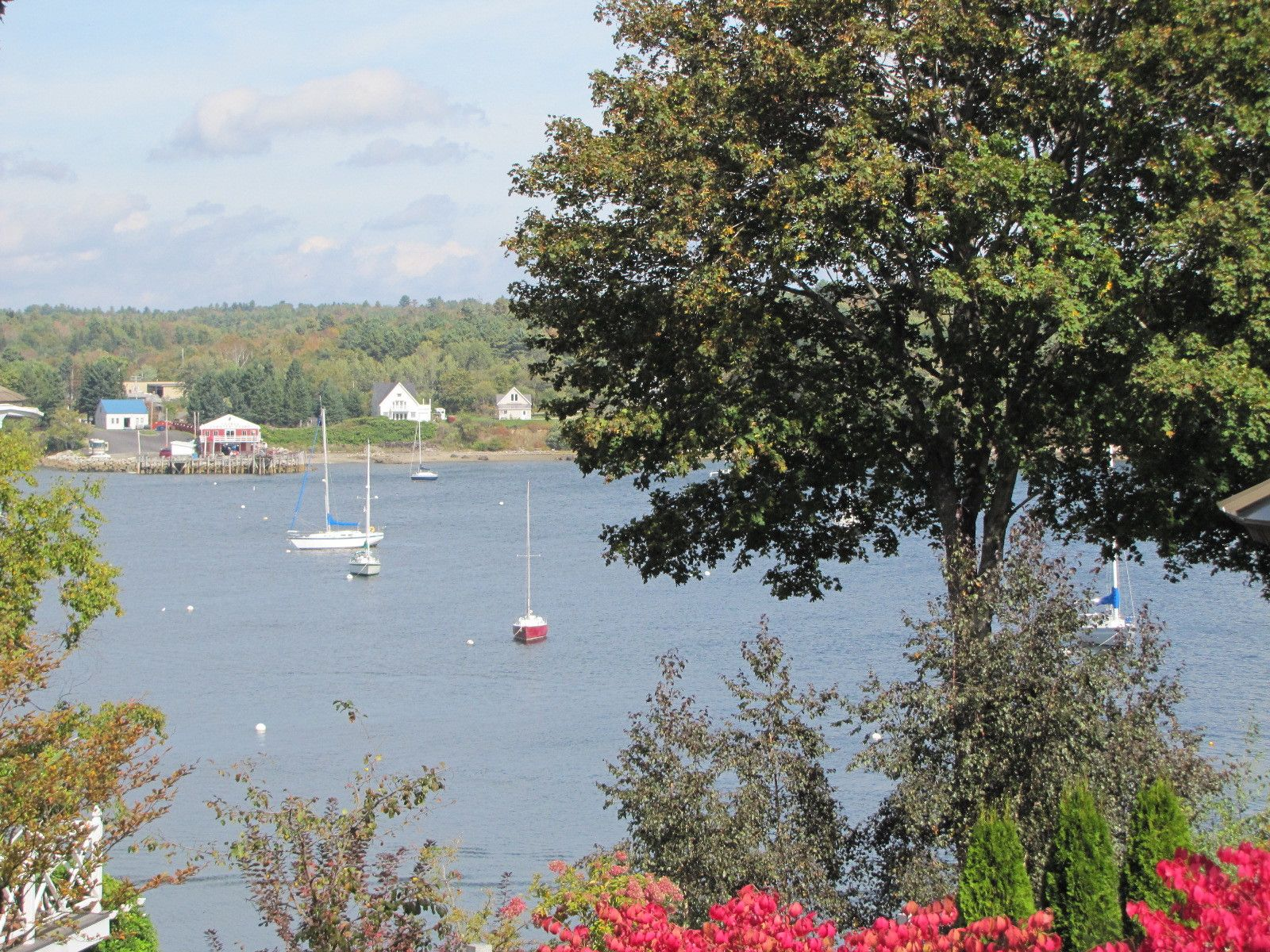 Real Estate Listing - 2 decks with views of Belfast Harbor & Penobscot Bay