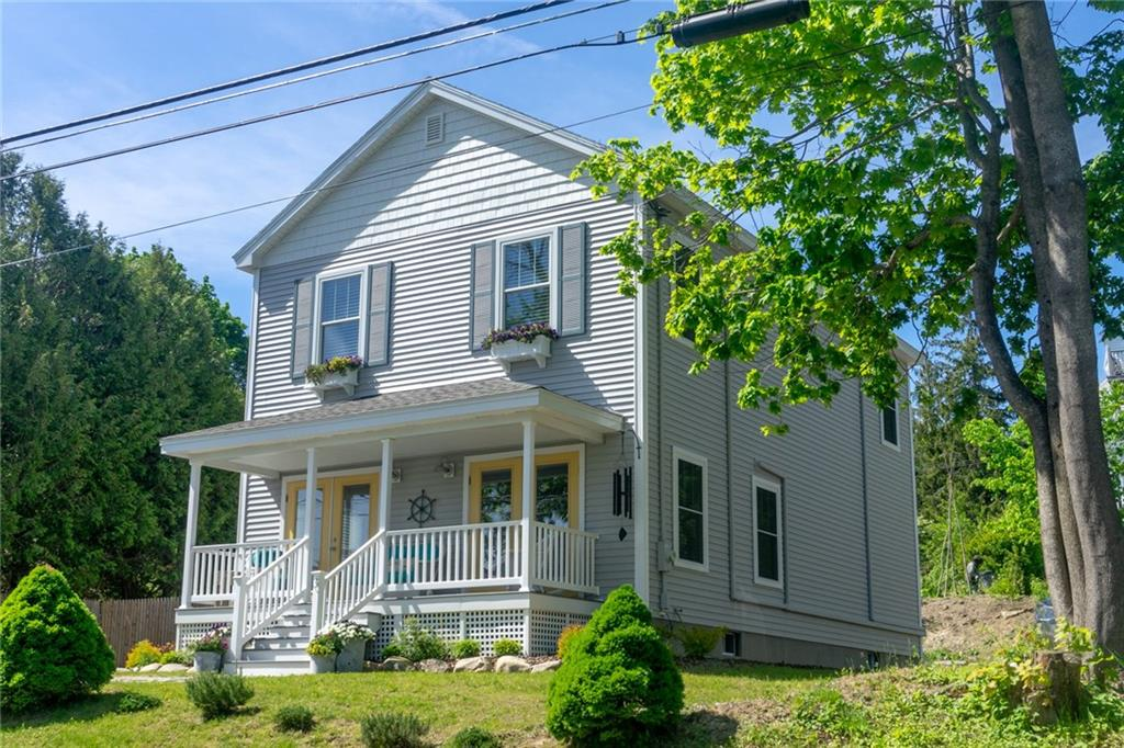 Belfast, Maine Real Estate Listing - Ocean Harbor View Home For Sale
