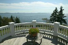 From the deck of a Maine oceanfront estate on the coast of Maine