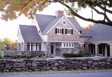Stone House on Bold Rocky Coast of Maine