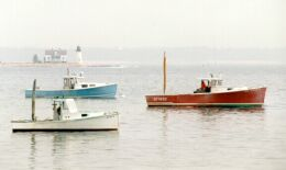 3 Lobsterboats on the Coast of Maine