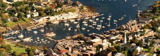 Camden Maine from above