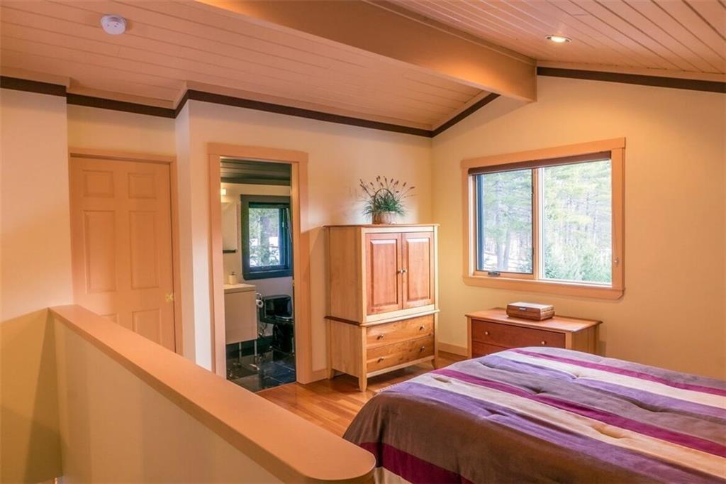Master Bedroom Suite Contemporary Waterfront Home in Maine