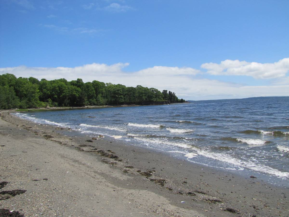 Real Estate Listing - Searsport Maine - oceanfronthome real estate listing - views of penobscot bay southern exposure sandy beach