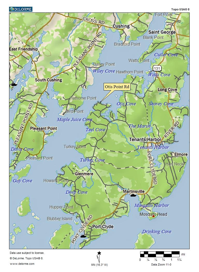 Oceanfront Bungalow Tenants Harbor Maine