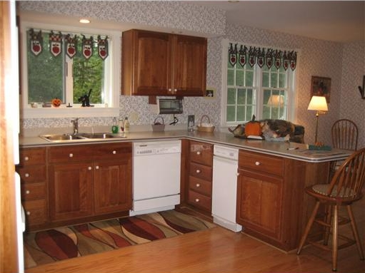 Cooks Kitchen in home for sale on the coast of Maine